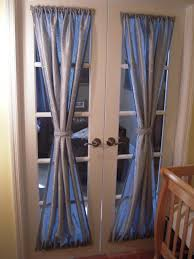 beautiful french door window treatments with gray curtain jpg