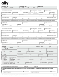 ally form fill online printable fillable blank pdffiller