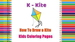 how to draw a kite coloring pages alphabets coloring pages