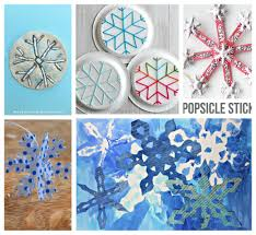 25 snowflake arts and crafts for kids u2013 the pinterested parent