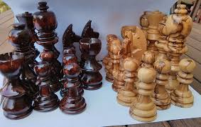 amazon com jerusalem large olive wood chess set pieces 5 2 toys