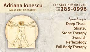 Massage Therapy Business Cards Adriana Ionescu Massage Cards Dre5 Productions Las Vegas Video