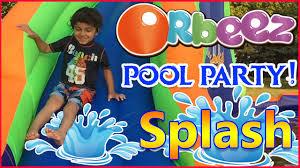 biggest orbeez pool party water slide backyard waterpark kids