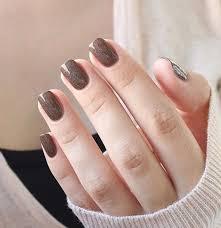65 winter nail art ideas glitter nails winter and brown nail art