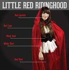 Red Riding Hood Costume Little Red Riding Hood Red Lipstick Red Cape Black Vest White