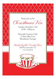 christmas tea party peppermint christmas tea invitation polka dot design