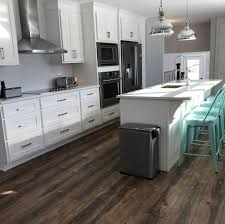 what floor goes best with white cabinets 10 kitchens with vinyl plank