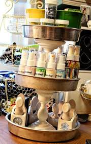 53 best paper craft storage images on pinterest storage ideas cake pans and candlesticks dollar tree take it a couple of steps further spray paint pans and candlesticks the same color gold or silver come to mind