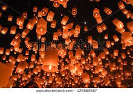 firework lantern sky lantern stock photo 467451905