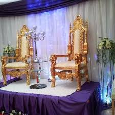 his and hers wedding chairs wedding gold throne chairs his hers king chairs