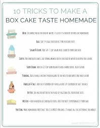 10 tricks to make a box cake mix taste homemade