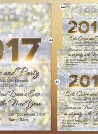 Happy New Year Invitation 2017 New Years Invitation Flyer Bokeh Texture Light Bokeh