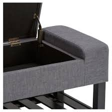 Simpli Home Storage Ottoman Finley Storage Ottoman Bench Slate Gray Simpli Home Target