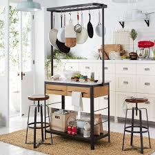 marble kitchen island pot rack west elm 1099 apt