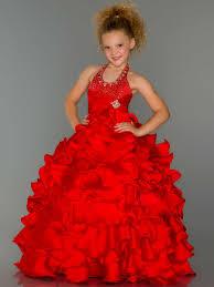 halter beaded layered red flower dresses on sale on