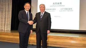 toyota motor group joint press conference by toyota motor corporation and suzuki