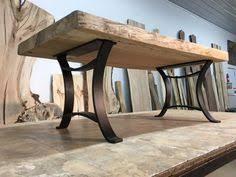 walnut dining table base live edge black walnut dining table with half moon base live edge
