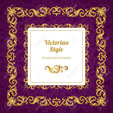 Vector Decorative Frame In Victorian Style Elegant Element For