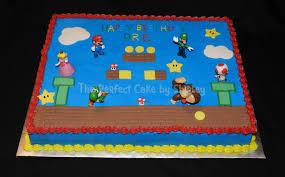 mario cake mario sheet cake cakecentral