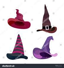 witch hats halloween straps buckles set stock vector 494181055
