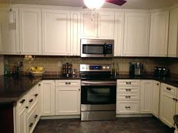 Kitchen Backsplashglass Tile And Slate by Kitchen White Cabinet Black Granite Cabin Remodeling Gehan Homes