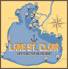 lake st clair lake st best spots to anchor and swim on lake st clair great lakes swag