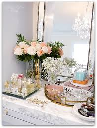 Jewelry Vanity Table Adding Glam To Your Boudoir A Blog Hop Perfume Display Vanity