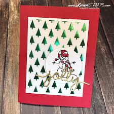sparkly season simple christmas card lovenstamps