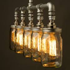 diy mason jar light with iron pipe lighting plastic jelly jar light fixture canning to make mason