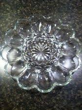 vintage deviled egg plate anchor hocking fairfield deviled egg tray plate clear 10 diam ebay