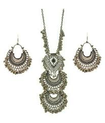silver jewellery necklace sets images A m international silver oxidised classy afghan tribal necklace jpeg