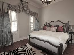 spanish shaped master bedroom window treatments mixed zebra