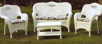 Attractive White Wicker Outdoor Furniture White Resin Wicker Patio - White wicker outdoor furniture
