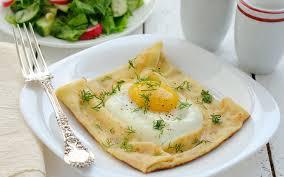 breakfast eggs fried eggs egg shoot dish fork green dill salad hd