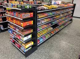 Black Gondola Shelving by Auto Store Shelving Displays Auto Parts Retail Store Fixtures
