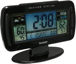 amazon com sharp digital atomic weather station clock color