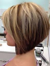 stacked hairstyles for thin hair short medium angled bob haircut reverse bob blonde highlight