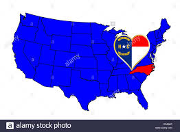 america map carolina carolina state outline and icon inset set into a map of the