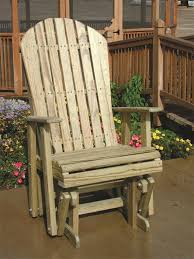 pine wood adirondack glider chair by dutchcrafters amish furniture