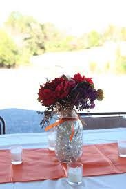 mason jars and fall flower centerpieces weddingbee photo gallery