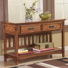 sofa table signature design by cross island mission sofa console table