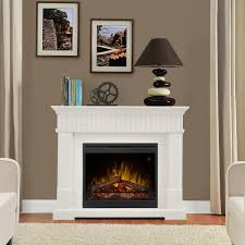 ledgestone mantel led electric fireplace white