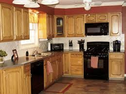 Tropical Kitchen Rugs Kitchen Kitchen Color Ideas With Oak Cabinets And Black