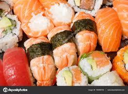 jeu de cuisine sushi jeu de coup de macro de sushi cuisine japonaise photographie
