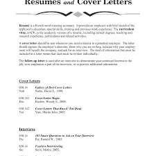 resume cover letter meaning