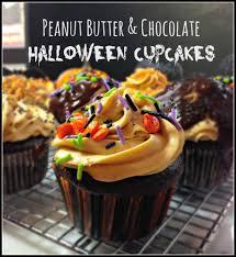 peanut butter u0026 chocolate cupcakes for halloween