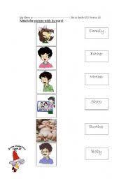 family member worksheet by reem