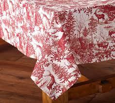pottery barn table linens alpine toile tablecloth pottery barn