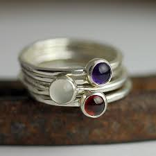 ring with children s birthstones children s birthstone jewelry from january to june