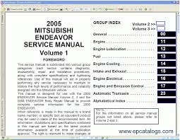 mitsubishi endeavor 2004 2005 repair manual cars repair manuals